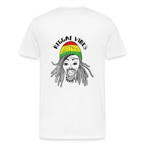 UNDV - Reggae Rasta Man (white) - Men's Premium T-Shirt