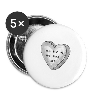I love you pin - Large Buttons