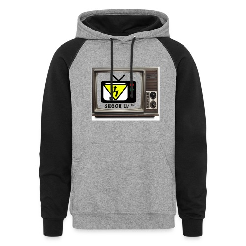 SHOCK TV SWEATER - Colorblock Hoodie