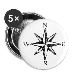 Compass Rose Vintage Bicolor Buttons - Small Buttons