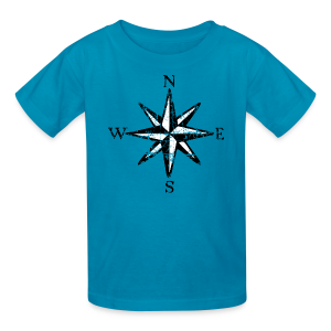 Compass Rose Vintage Bicolor Kid's T-Shirt - Kids' T-Shirt