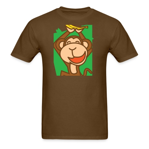 Brown joyful monkey - Men's T-Shirt