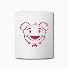 head of a small dog Mugs & Drinkware