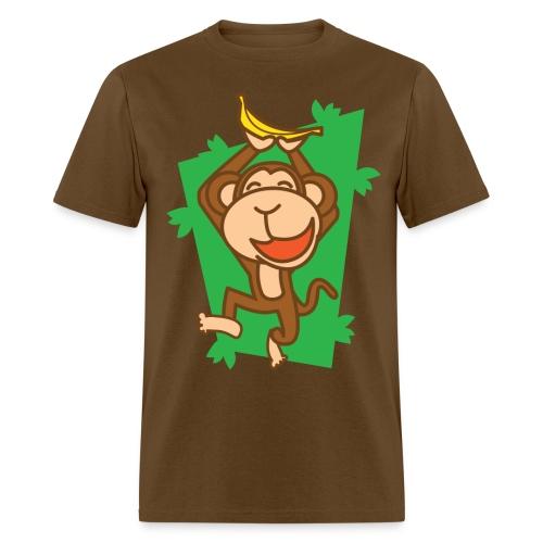 Brown joyful monkey for babies - Men's T-Shirt