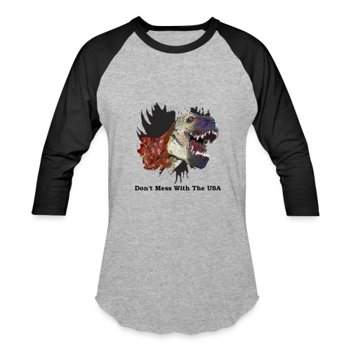 Baseball T-Shirt - t-rex,military,freedom,dinosaur,USA,US navy,US marines,US flag,US army,US air force,American flag