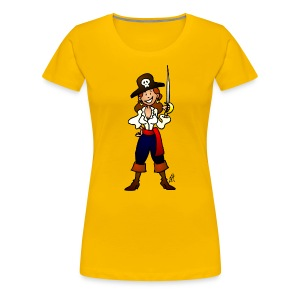 Pirate girl Women's T-Shirts - Women's Premium T-Shirt