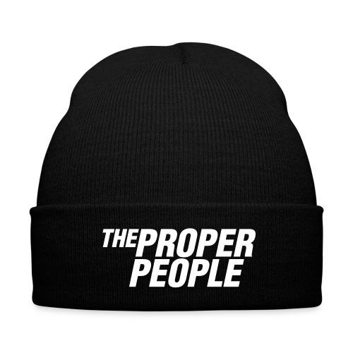 Beanie Hat - Knit Cap with Cuff Print