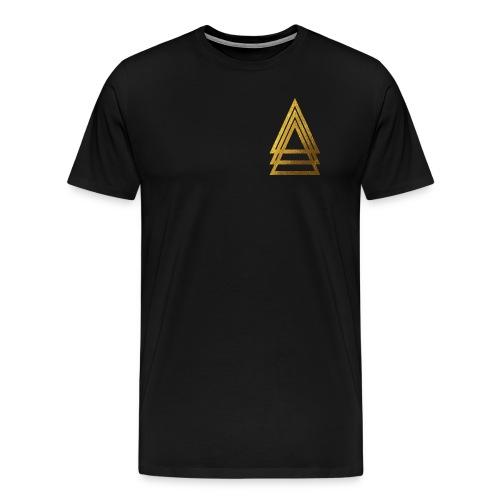 Gold Triad Logo Tee - Men's Premium T-Shirt