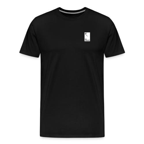 Basic Red Chargers Black Tee 2 - White Logo - Men's Premium T-Shirt
