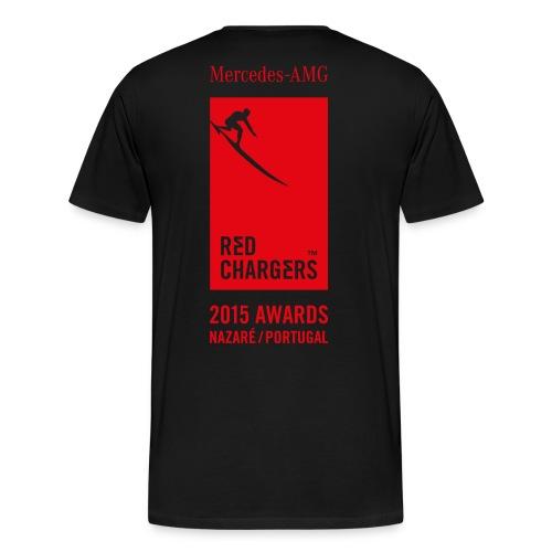 Basic Red Chargers Black Tee 2 - Red Logo - Men's Premium T-Shirt