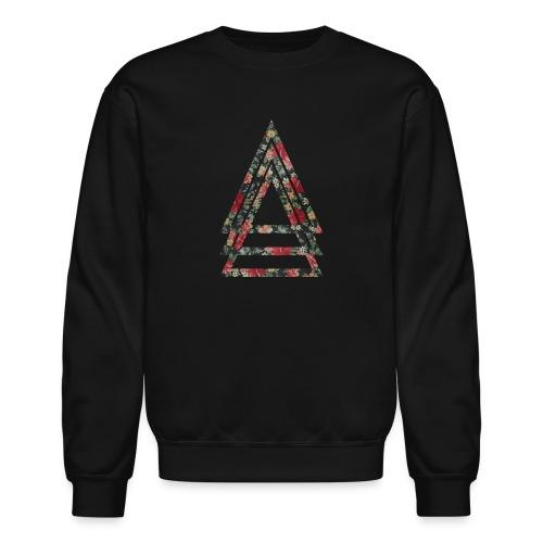 Floral Triad Crewneck Sweater - Crewneck Sweatshirt
