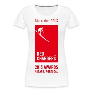Women's Basic White Tee - Red Logo - Women's Premium T-Shirt