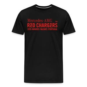 Basic Black Tee - Red Text Logo - Men's Premium T-Shirt