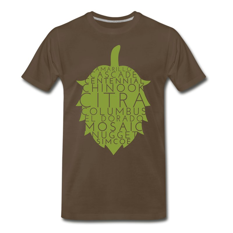 American hops craft beer t shirt spreadshirt for Craft brewery t shirts