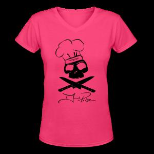 Women's Skull V-neck  - Women's V-Neck T-Shirt