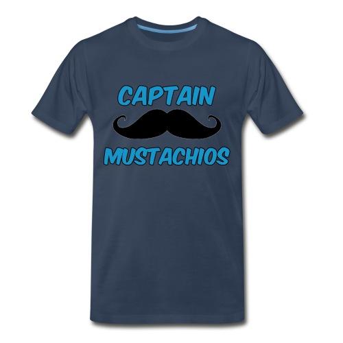 Captain Mustachios Men's T-Shirt - Men's Premium T-Shirt