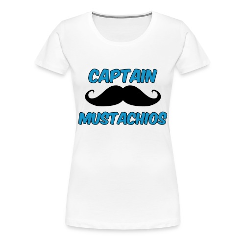 Captain Mustachios Women's T-Shirt - Women's Premium T-Shirt