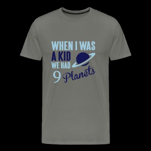 9 planets - Men's T-Shirt - Men's Premium T-Shirt