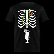 T-Shirts ~ Men's T-Shirt ~ Mardi Gras Skeleton Ribcage