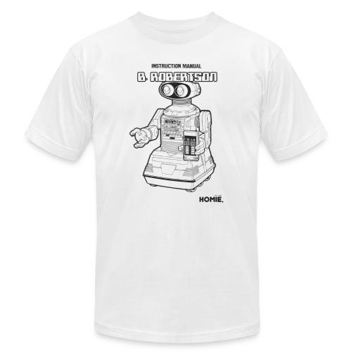 B. Robertson Robot White Tee - Men's Fine Jersey T-Shirt