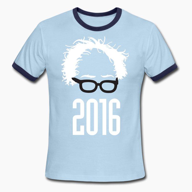 Bernie 2016 hair glasses t shirt spreadshirt for Hair salon t shirt designs