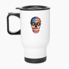 USA FLag Skull Mugs & Drinkware