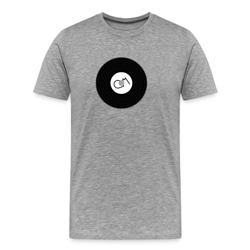 Oiram Media Disk Grey - Men's Premium T-Shirt