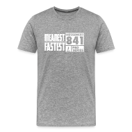 T-Shirts ~ Men's Premium T-Shirt ~ Messenger 841 Meanest and Fastest Logo T-shirt