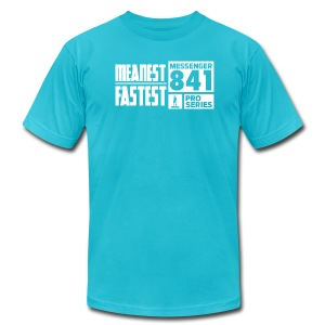 Messenger 841 Meanest and Fastest Logo T-shirt - Men's T-Shirt by American Apparel
