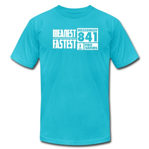 Messenger 841 Meanest and Fastest Logo T-shirt - Men's Fine Jersey T-Shirt