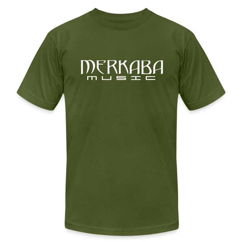 Mens Merkaba Music standard words - Men's T-Shirt by American Apparel