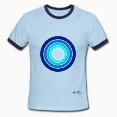 shapes - circles-blues T-Shirts