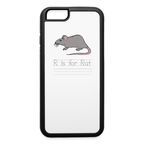 R is for Rat iPhone 6 Rubber Case  - iPhone 6/6s Rubber Case