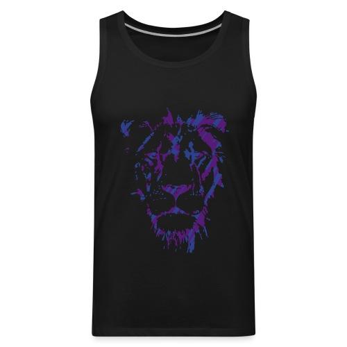 Purple & Blue Lion - Shirt - Men's Premium Tank