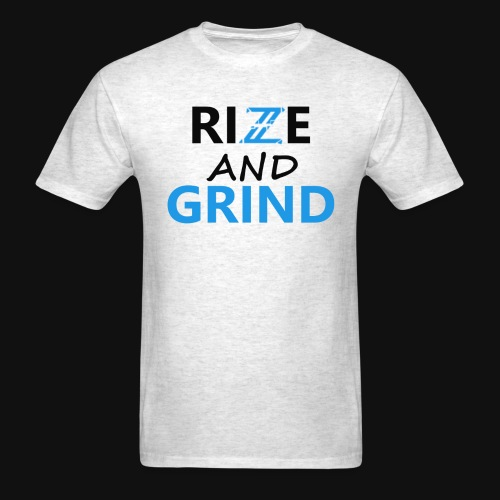 Iconic White/Blue Rise and Grind T-Shirt - Men's T-Shirt