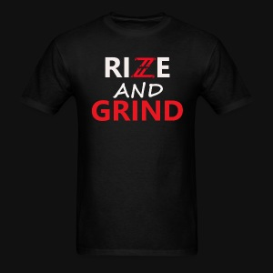 Iconic Black/Red Rise and Grind T-Shirt - Men's T-Shirt
