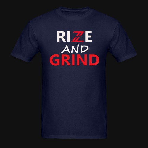Iconic Navy Blue/Red Rise and Grind T-Shirt - Men's T-Shirt