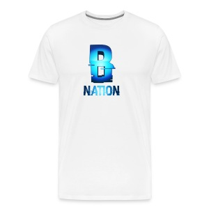 BowNation T-Shirts White - Men's Premium T-Shirt