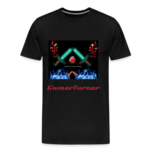 Black GamerTurner Signature Design T-Shirt - Men's Premium T-Shirt