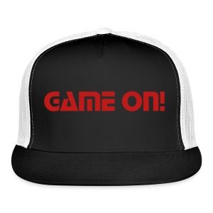 Black Game On! Cap - Trucker Cap