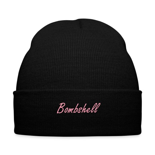 Bombshell Beanie - Knit Cap with Cuff Print