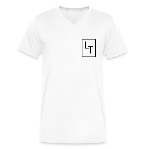 Small LT logo White - Men's V-Neck T-Shirt by Canvas