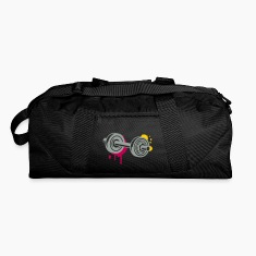A dumbbell graffiti Bags & backpacks