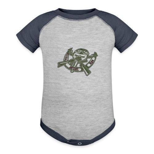 Natural Born Gun Bones - Contrast Baby Bodysuit