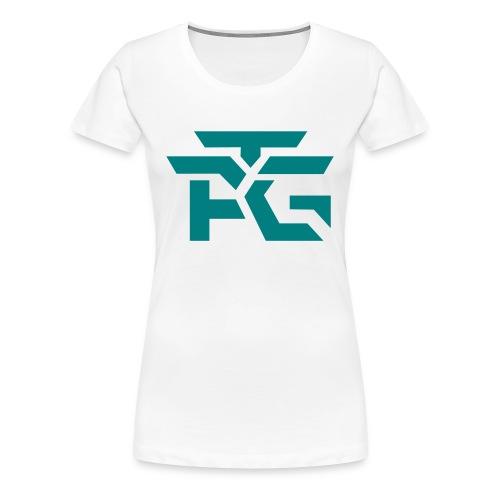 Woman's White Logo Tee - Women's Premium T-Shirt