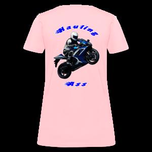 Women's T SportBlue Hauling Ass (Back) - Women's T-Shirt