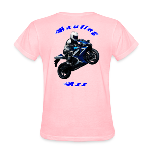 Women's T SportBlue Hauling Ass (Back) - Women's T-Shirt
