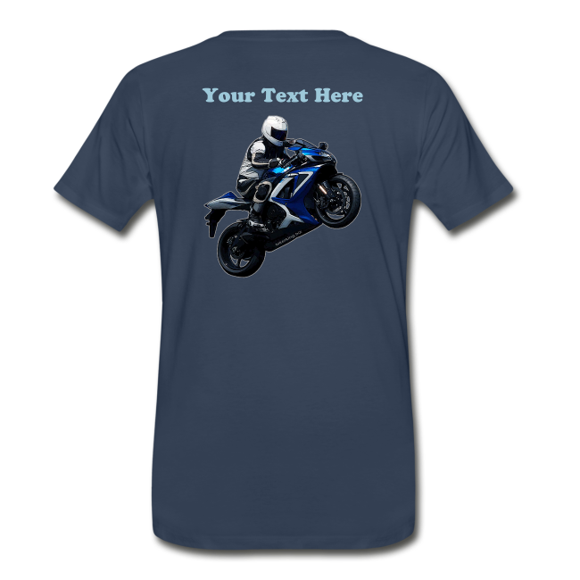 Men's Premium T SportBlue Custom (Back)