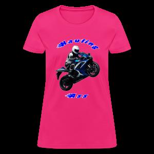 Women's T SportBlue Hauling Ass (Front) - Women's T-Shirt