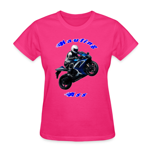 Women's T SportBlue Hauling Ass (Front) - Women's T-Shirt